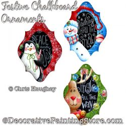 Festive Chalkboard Ornaments Painting Pattern DOWNLOAD - Chris Haughey