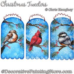 Christmas Tweeters Ornaments Painting Pattern DOWNLOAD - Chris Haughey
