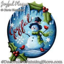 Joyful Plaque (Snowman) Painting Pattern DOWNLOAD - Chris Haughey