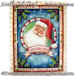 North Pole Post Plaque (Santa) Painting Pattern DOWNLOAD - Chris Haughey