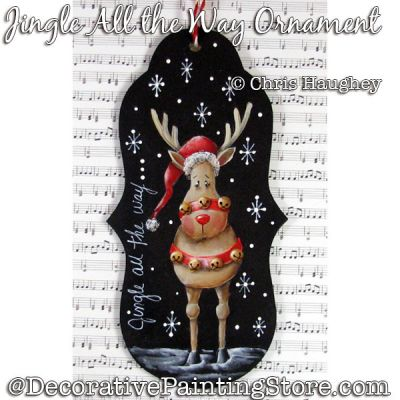 Jingle All the Way Ornament (Reindeer) Painting Pattern DOWNLOAD - Chris Haughey