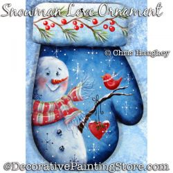 Snowman Love Ornament Painting Pattern DOWNLOAD - Chris Haughey