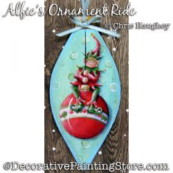 Alfies Ornament Ride (Christmas Elf) Painting Pattern DOWNLOAD - Chris Haughey