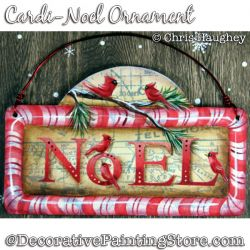 Cardi-Noel Ornament (Cardinal Bird) Painting Pattern DOWNLOAD - Chris Haughey