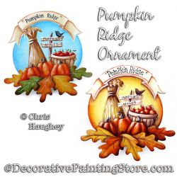 Pumpkin Ridge Ornament Painting Pattern PDF DOWNLOAD - Chris Haughey