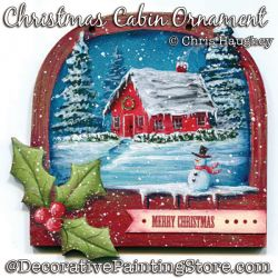 Christmas Cabin Ornament Painting Pattern DOWNLOAD - Chris Haughey
