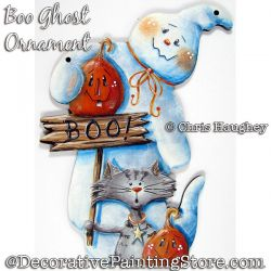 Boo Ghost Ornament Painting Pattern PDF DOWNLOAD - Chris Haughey