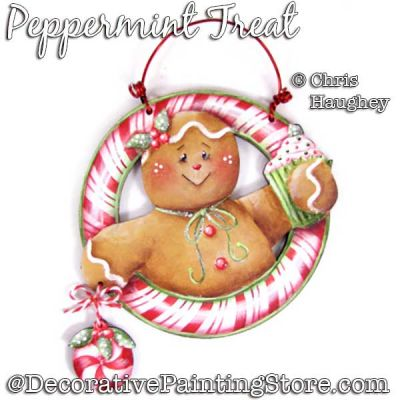 Peppermint Treat Painting Pattern DOWNLOAD - Chris Haughey