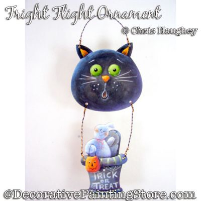 Fright Flight Ornament Painting Pattern PDF DOWNLOAD - Chris Haughey