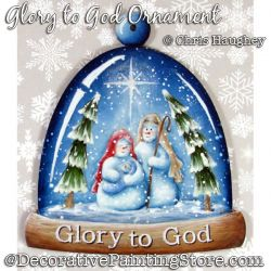 Glory to God Snowman Ornament Painting Pattern DOWNLOAD - Chris Haughey