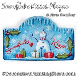 Snowflake Kisses Plaque Painting Pattern DOWNLOAD - Chris Haughey