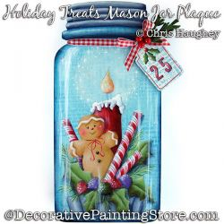 Holiday Treats Mason Jar Plaque Painting Pattern DOWNLOAD - Chris Haughey