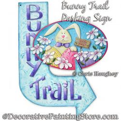 Bunny Trail Parking Sign Painting Pattern DOWNLOAD - Chris Haughey