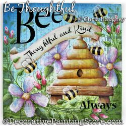 Be Thoughtful Plaque Painting Pattern DOWNLOAD - Chris Haughey