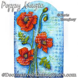 Poppy Magic (Stamp and Paint) Painting Pattern DOWNLOAD - Chris Haughey