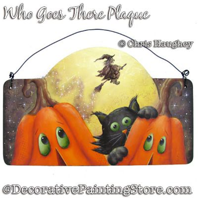Who Goes There Sign Painting Pattern PDF DOWNLOAD - Chris Haughey