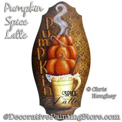 Pumpkin Spice Latte Sign Painting Pattern PDF DOWNLOAD - Chris Haughey
