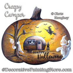 Creepy Camper Pumpkin Sign Painting Pattern PDF DOWNLOAD - Chris Haughey