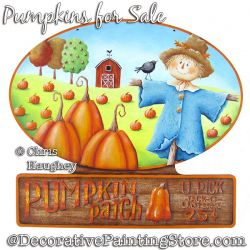 Pumpkins for Sale Sign Painting Pattern PDF DOWNLOAD - Chris Haughey