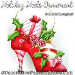 Holiday Heels Ornament Painting Pattern DOWNLOAD - Chris Haughey