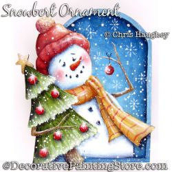 Snowbert Snowman Ornament Painting Pattern DOWNLOAD - Chris Haughey