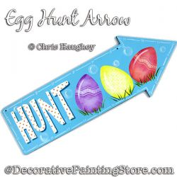 Egg Hunt Arrow Sign Painting Pattern DOWNLOAD - Chris Haughey