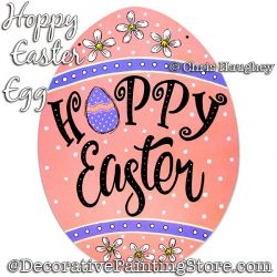 Hoppy Easter Sign Painting Pattern DOWNLOAD - Chris Haughey