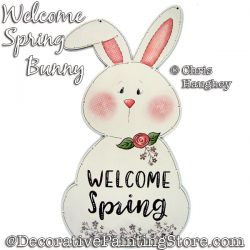 Welcome Spring Bunny Sign Painting Pattern DOWNLOAD - Chris Haughey