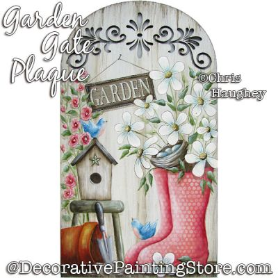 Garden Gate Plaque Painting Pattern PDF DOWNLOAD - Chris Haughey