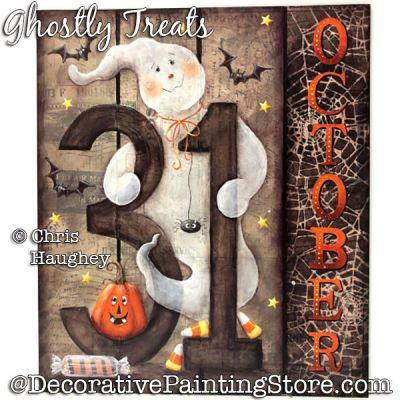 Ghostly Treats Painting Pattern PDF DOWNLOAD - Chris Haughey