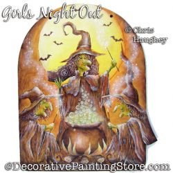 Girls Night Out (Witches) Painting Pattern PDF DOWNLOAD - Chris Haughey