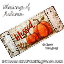 Blessings of Autumn (Pumpkin) Sign Painting Pattern PDF DOWNLOAD - Chris Haughey