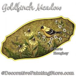 Goldfinch Meadow Painting Pattern PDF DOWNLOAD - Chris Haughey