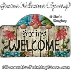 Gnome Welcome (Spring) Painting Pattern PDF DOWNLOAD - Chris Haughey