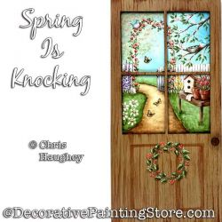 Spring Is Knocking Painting Pattern PDF DOWNLOAD - Chris Haughey