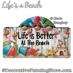 LIfes a Beach Welcome (Gnome) Painting Pattern PDF DOWNLOAD - Chris Haughey