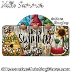Hello Summer Welcome (Gnome) Painting Pattern PDF DOWNLOAD - Chris Haughey