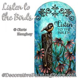 Listen to the Birds Painting Pattern PDF DOWNLOAD - Chris Haughey