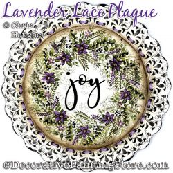 Lavender Lace Plate Painting Pattern PDF DOWNLOAD - Chris Haughey