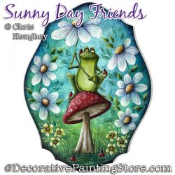 Sunny Day Friends (Frog) Painting Pattern PDF DOWNLOAD - Chris Haughey