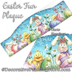 Easter Fun Plaque Painting Pattern PDF DOWNLOAD - Chris Haughey