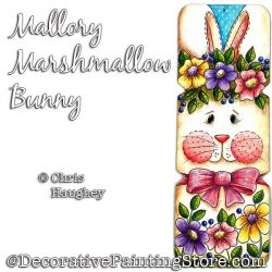 Mallory Marshmallow Bunny Painting Pattern PDF DOWNLOAD - Chris Haughey