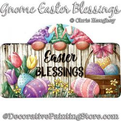 Gnome Easter Blessings Painting Pattern PDF DOWNLOAD - Chris Haughey