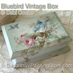 Bluebird Vintage Box ePattern -Debi Coules - PDF DOWNLOAD