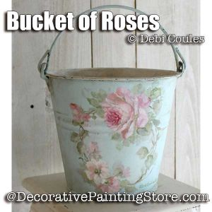 Bucket of Roses ePattern -Debi Coules - PDF DOWNLOAD