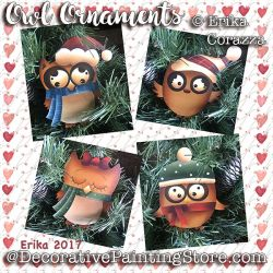 Owl Ornaments- Erika Corazza - PDF DOWNLOAD
