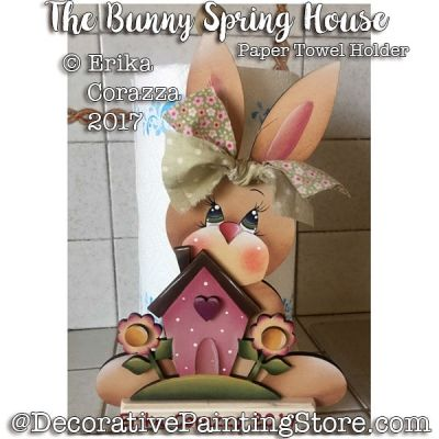 The Bunny Spring House - Paper Towel Holder - Erika Corazza - PDF DOWNLOAD