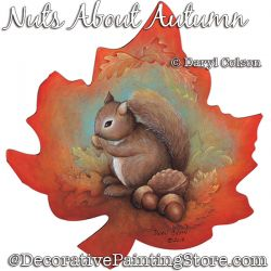 Nuts About Autumn (Squirrel) PDF DOWNLOAD Painting Pattern - Daryl Colson