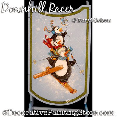 Downhill Racer (Penguins) PDF DOWNLOAD Painting Pattern - Daryl Colson