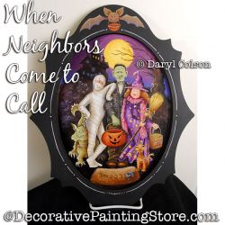 When Neighbors Come to Call (Halloween) PDF DOWNLOAD Painting Pattern - Daryl Colson